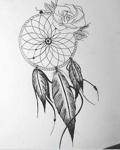 Ideas Tattoo Ideas Drawings Sketches Dream Catchers For 2019 Nirvana Tattoo, Dream Catcher Drawing, Dream Catcher Tattoo, Dream Catchers, Father Daughter Tattoos, Tattoos For Daughters, Tattoo Studio, Victory Tattoo, Grandfather Clock Tattoo