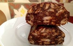 Cocoa Trunk (Kormos) with condensed milk and petit beurre - iCookGreek Chocolate Fridge Cake, Chocolate Sweets, Greek Desserts, Greek Recipes, Pastry Recipes, Chef Recipes, Recipies, My Favorite Food, Favorite Recipes