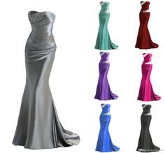 Free shipping, $87.94/Piece:buy wholesale 2016 Sexy Strapless Elastic Satin Mermaid Bridesmaid Dresses Bling Sequins Beaded Pleated Wedding Party Dress For Bridesmaids Lace-up Back from DHgate.com,get worldwide delivery and buyer protection service.