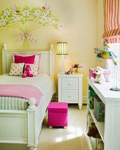cool toddler girl room decor minus the flowers over the headboard Girls Bedroom Sets, Big Girl Bedrooms, Little Girl Rooms, Kids Bedroom, Bedroom Decor, Fairy Bedroom, Kids Rooms, Nursery Decor, Room Girls