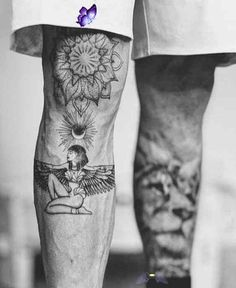 Leg Tattoos Designs - Badass Leg Tattoos for Men and Women  <br> Leg tattoos is a great choice and idea for both men and women. Discover a timeless selection of the top 100 best badass tattoos for men and women. Foot Tattoos, Finger Tattoos, Sleeve Tattoos, Pretty Tattoos, Unique Tattoos, Tattoos For Guys Badass, Back Tattoos For Guys, Leg Tattoos Women, Small Tattoos Men