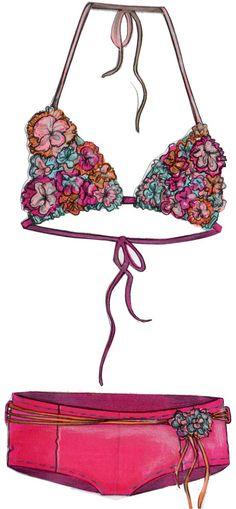 fashion illustrations by Rachel Knutson at Coroflot.com