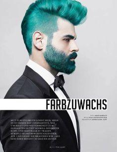 Highlighter Hair Shoots - bright green hair, coloured beard, hair colour for men