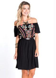 Vestido Ciganinha (Preto) Mercatto