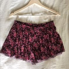 Intimately Free People Vintage Flower Boxers Bought several seasons ago, I have only worn (with love) these flirty feminine boxers a handful of times. They are very comfortable, have a lil cheeky look, and consist of slightly transparent fabric. Available for a lower price on ♏️erc or ️️! Free People Intimates & Sleepwear Pajamas