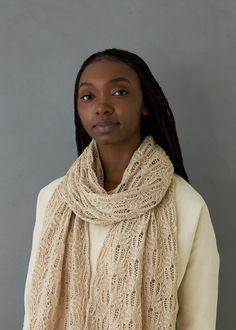 Botanical Lace Wrap | Purl Soho Easy Scarf Knitting Patterns, Knitting Yarn, Free Knitting, Scarf Patterns, Knitting Stitches, Wrap Pattern, Crochet Pattern, Purl Soho, Lace Wrap