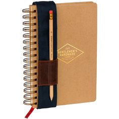Dot & Bo Craftsman's Notebook ($22) ❤ liked on Polyvore featuring home, home decor y stationery