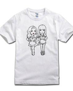 2 Broke Girls t shirt for women Max Black and Caroline Wesbox Channing short sleeve t shirts  -