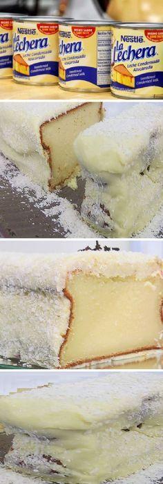 Pastel de leche condensada y coco