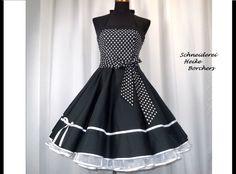 Petticoatkleider - Petticoatkleid Konfirmationskleid Jana - ein Designerstück von Schneiderei-Heike-Borchers bei DaWanda