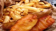 Traditional British Pub Food - Fish & Chips  http://www.tours4fun.com/london-great-food-tour.html