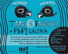 Tarde de fanzines en PLOP! Galería con diversos ilustradores chilenos. Domingo 7 de julio, 16 horas. Entrada liberada.