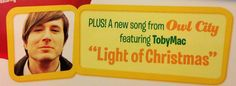 Check out this new Christmas song now playing on Air1 by Owl City and TobyMac!