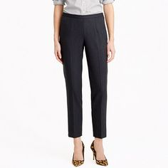 J.Crew - Back-zip pant in wool piqué