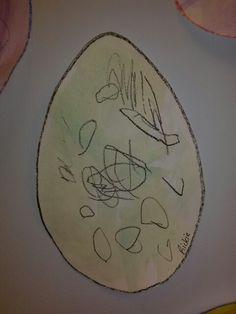 Dinosaur Egg...Crayon & Water Paint