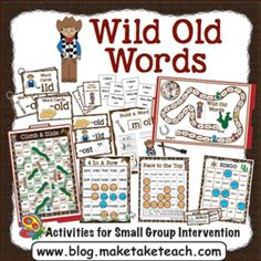 "When you download the Wild Old Words Phonics Bundle you will receive 11 interactive activities for practicing words containing -ild, -old, -ind, -olt,  and -ost. These activities are ideal for either small group instruction or for your literacy centers.There are many ways you can store your activities, but these store nicely in a 15""L x 11 1/2 W x 3 1/4""H Sterilite container (be sure to check out the picture in the preview)."