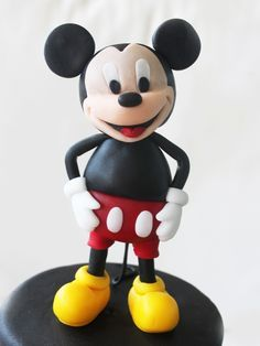 How to model a Mickey Mouse step by step with fondant and gum paste