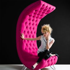"""Pink """"Moon Chair"""""""