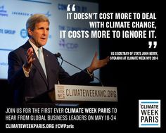 @ClimateReality: The best businesses know it costs more to ignore climate change than to deal with it #CWParis