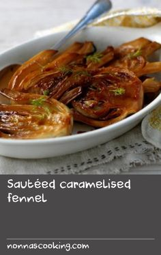 This simple recipe showcases the fantastic flavour of fennel. Fennel Recipes, Caramel, Easy Meals, Gluten Free, Vegetarian, Beef, Simple, Food, Sticky Toffee