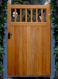 Cheshire Tall Side Gate in Idigbo Harwood. Solid wood with open design on top