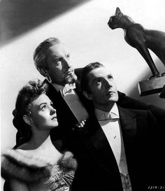 Donna Reed, George Sanders, and Hurd Hatfield in The Picture of Dorian Gray (1945)