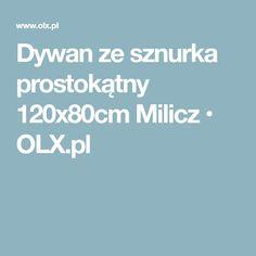 Dywan ze sznurka prostokątny 120x80cm Milicz • OLX.pl
