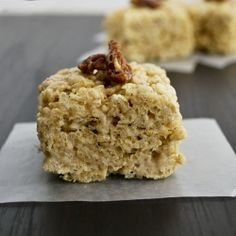 No Bake Butter Pecan Rice Krispy Treats - these are every bit as decadent as they sound!