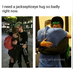 "BUT LOOK AT THE WAY HE HUGS???? IT'S NOT LIKE ""oh youre just a fan haha *quick hug Move on*"" IT'S LIKE HE'S HUGGING HIS OWN FAMILY. B L E S S H I M"
