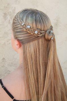 Peinado para novia con cabello largo