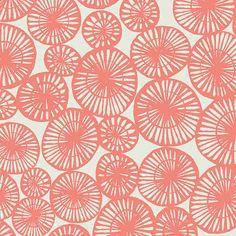 coral fabric | Sarah Watts | fabric | color | design