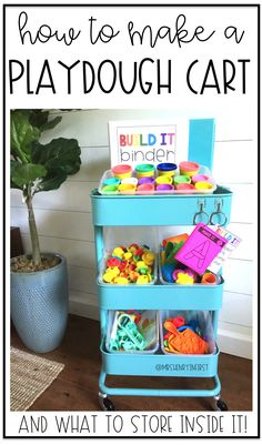 Make your own Playdoh Cart and see what's inside mine I love using Play Dough in the classroom! It's perfect for literacy and math! Classroom Layout, New Classroom, Special Education Classroom, Classroom Organization, Classroom Ideas, Physical Education, Kindergarten Classroom, Kindergarten Activities, Preschool Activities