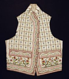 c. 1790 waistcoat, French, made of silk and cotton, The Metropolitan Museum of Art C.I.68.67.2