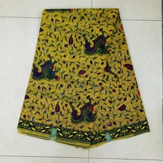 Find More Fabric Information about KWS 30 Yellow African Ankara Fabric, Veritable wax Hollandais, African Print Fabric 6yards lot,High Quality wax hollandais,China veritable wax hollandais Suppliers, Cheap african print fabric from Freer on Aliexpress.com