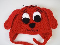(4) Name: 'Crocheting : Clifford Hat