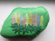 Large river stone hand painted with image of by BirchMoonArts