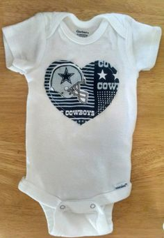 Dallas Cowboys Football Baby and Toddler Onesie or Shirt by AweBeeDesigns on Etsy