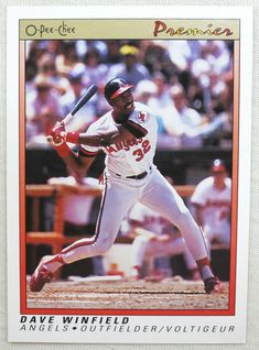 1991 O-Pee-Chee Premier Baseball 130 Dave Winfield California Angels #CaliforniaAngels Angel S, The Outfield, California, Baseball Cards, Store, Ebay, Storage, Shop