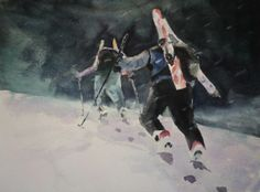 Bonnington traverse.  Watercolour.