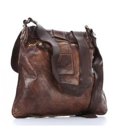 Campomaggi Lavata Shoulder Bag smooth cowhide cognac - C1369VL-1702 - Designer Bags Shop - wardow.com