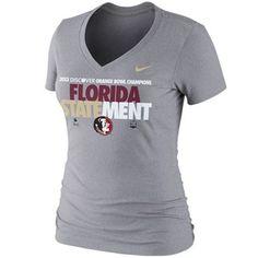 Nike Florida State Seminoles (FSU) Ladies 2013 Orange Bowl Champions Locker Room V-Neck T-Shirt