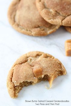 Brown Butter Salted Caramel Snickerdoodle cookie #recipe. #dessert #decadent #foodie