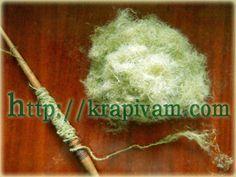 Обработка крапивы и прядение