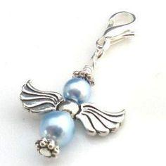 Something blue guardian angel charm - £8.99