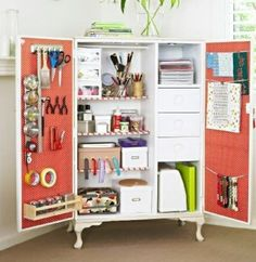 Repurposed armoire