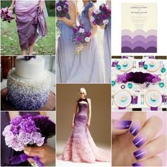 purple ombre wedding theme.Ombre is a fun trend, have fun with ombre for your #wedding. Follow www.labola.co.za for all the trends