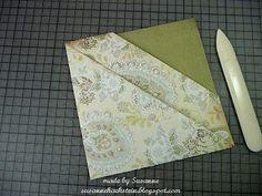 Stempeleinmaleins: Diagonal Double Pocket Card Fancy Fold Cards, Folded Cards, Christmas Gift Card Holders, Karten Diy, Pocket Cards, Book Folding, Scrapbook Albums, Scrapbooking, Card Tutorials