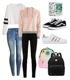 """Back to school - best friends"" by haujo ❤ liked on Polyvore featuring Gucci, Topshop, adidas Originals and Music Notes"