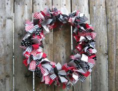 CRAZY CAT LADY Wreath 10 Handmade Fabric Rag by 3PetuniaPlace