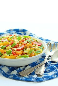 ... Fare on Pinterest | Tomato Caprese, Fresh Corn Salad and Pasta Salad